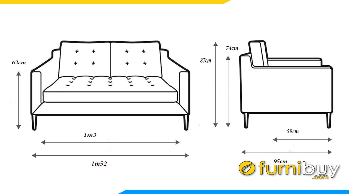 kich thuoc sofa vang 2 cho 1m5