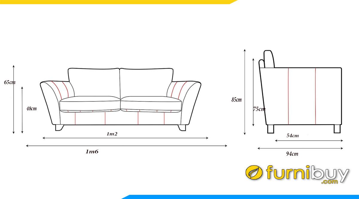 kich thuoc sofa vang 2 cho dai 1m6