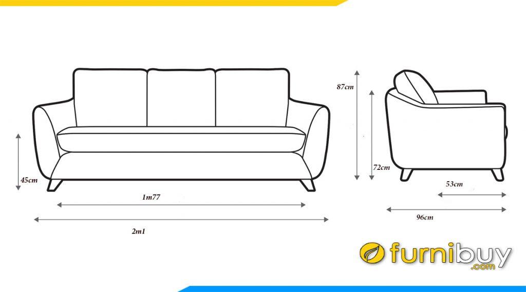 kich thuoc pho thong sofa vang