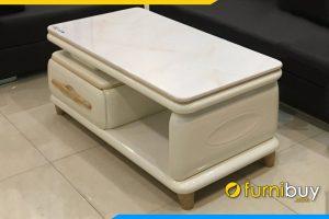 Mau 1 ban tra sofa mat da go cong nghiep mau trang FBBTR0602