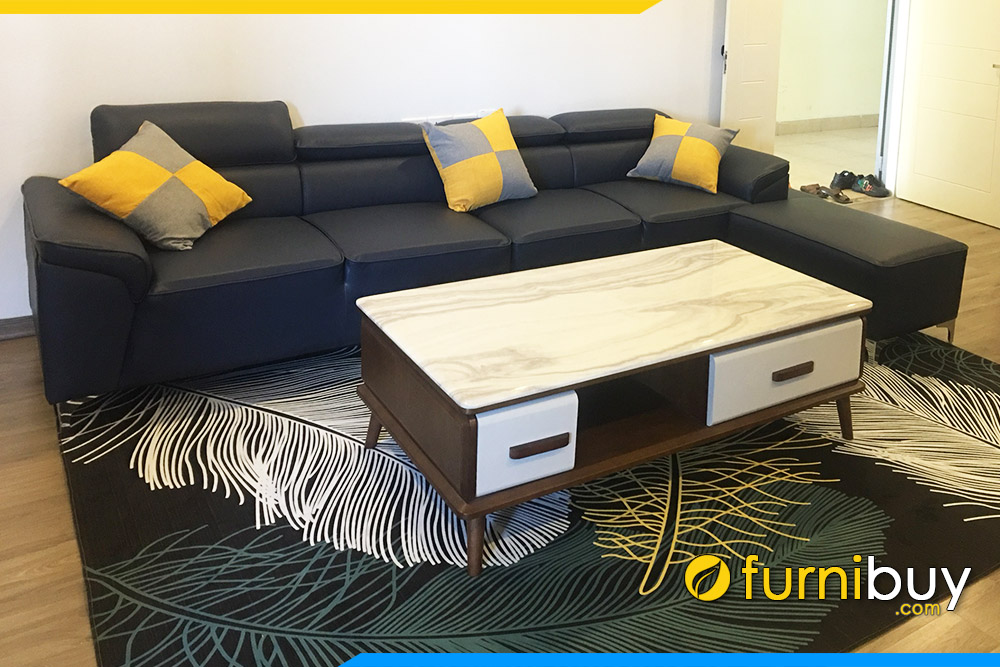 Ban tra sofa go MDF dep gia re mat da ke chung cu cung sofa