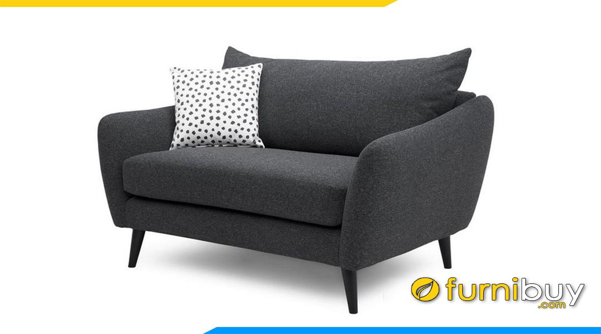 mau ghe sofa don ni mau xanh than ke phong khach
