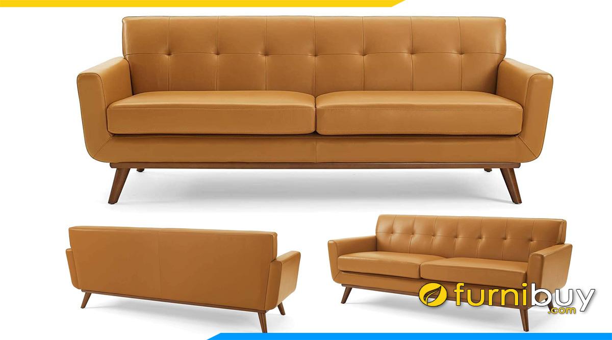 sofa vang 2 cho ngoi mau da bo rut chi 1 hang tua lung