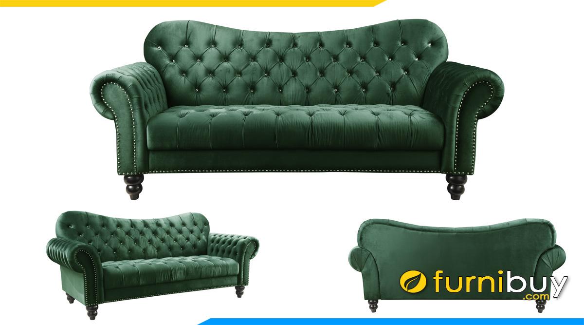 mau ghe sofa phong khach phong cach hoang gia sang trong mau xanh la
