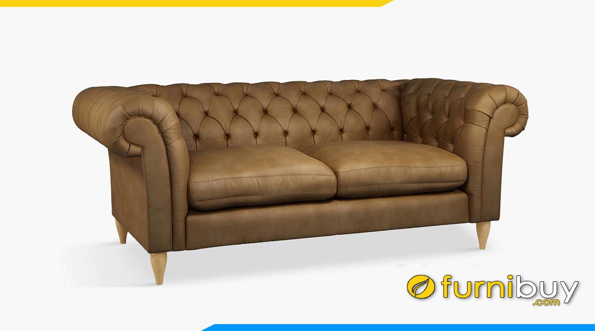 ghe sofa vang 2 cho ngoi tan co dien