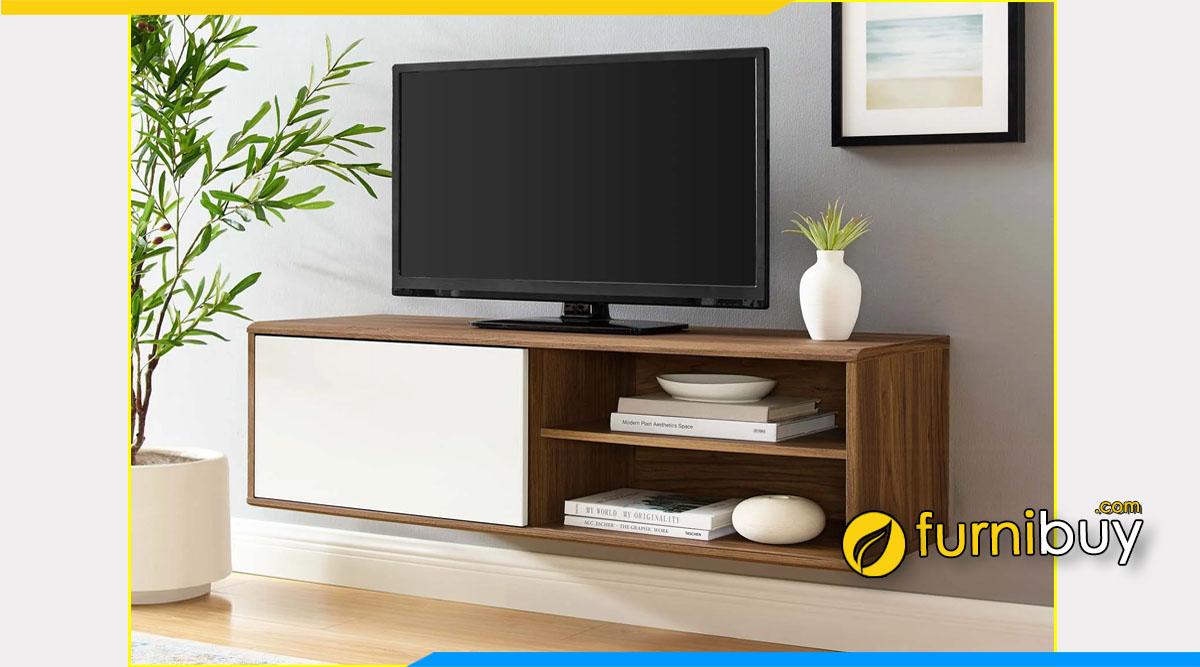 Hình ảnh Mẫu kệ tivi gỗ MFC treo tường giá rẻ
