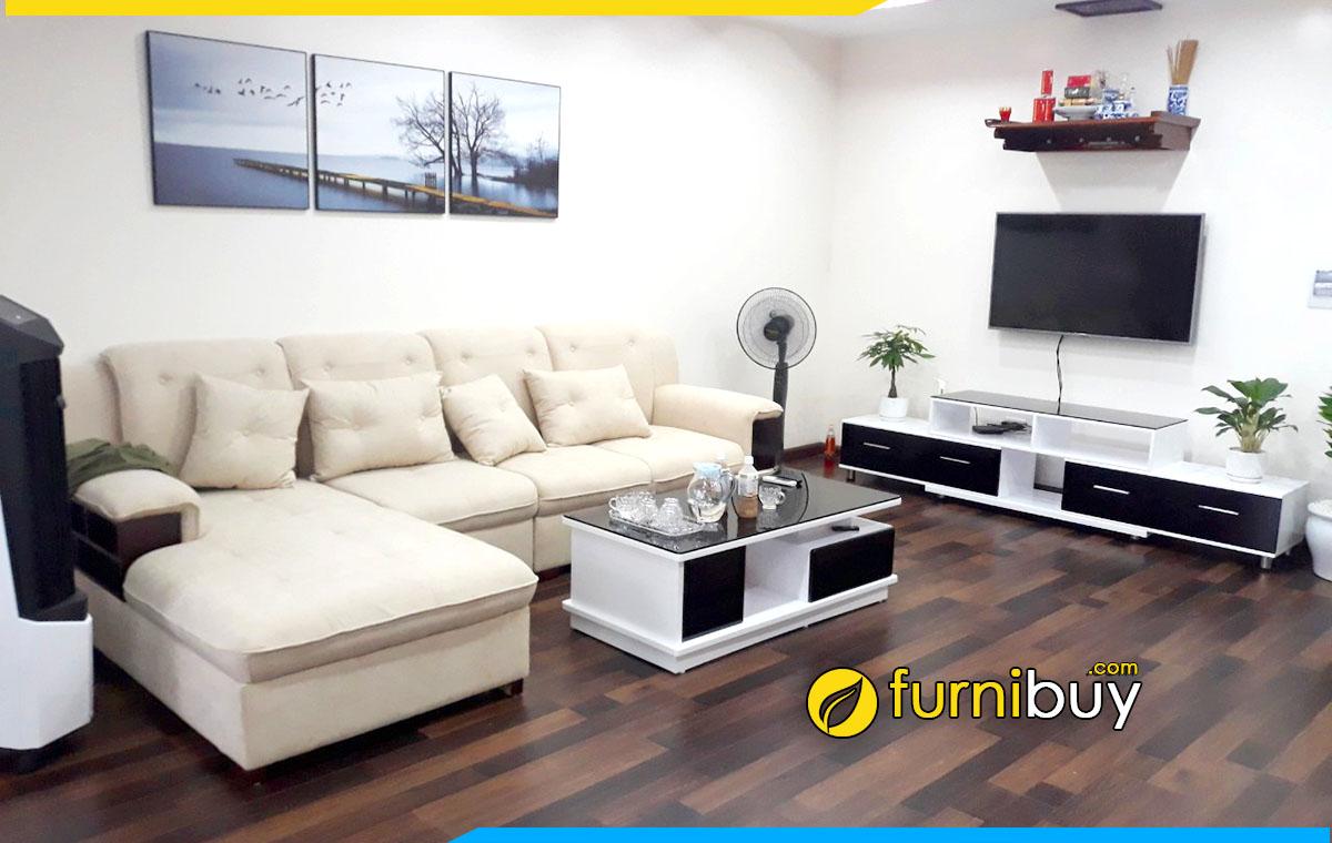 Hình ảnh Mẫu kệ tivi phòng khách đẹp màu đen trắng