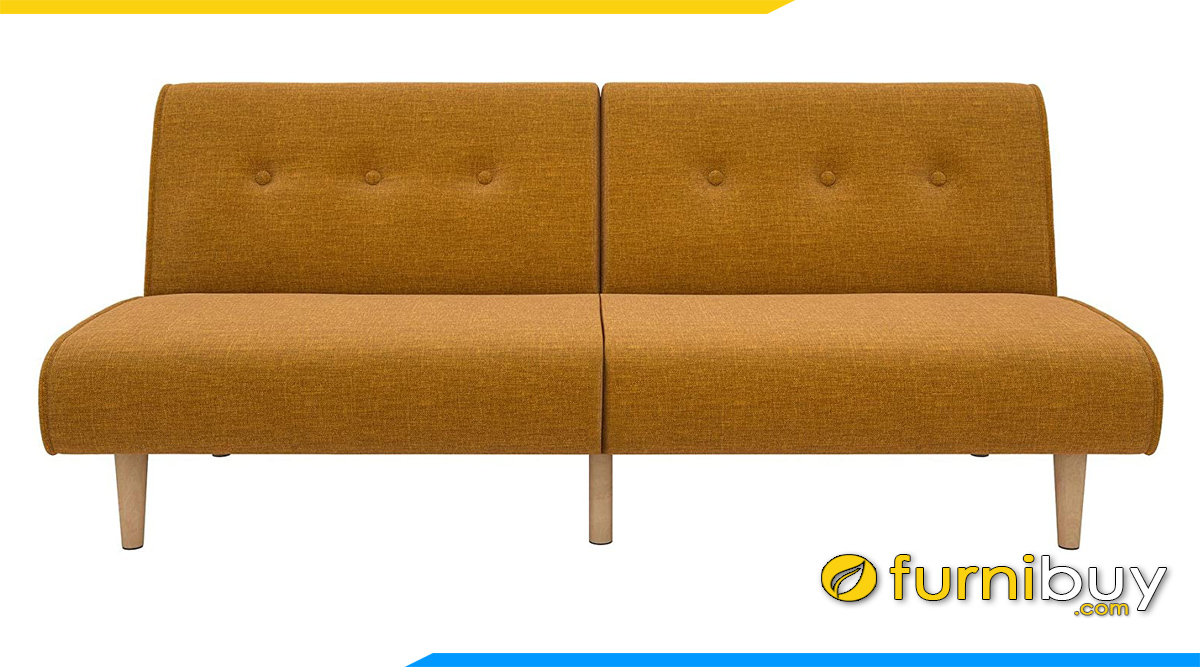 mau sofa vang 2 cho khong tay vin mau cam tre trung