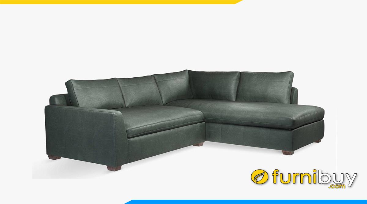 mau sofa da goc mau xanh reu nhat ke phong khach