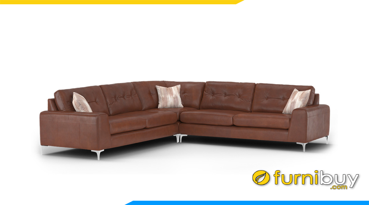 mau sofa da phong khach dang chu v kich thuoc lon