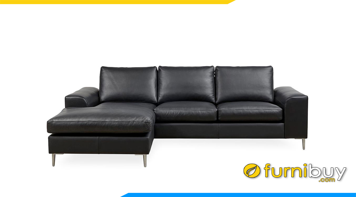 mau sofa goc mau den chat lieu han quoc
