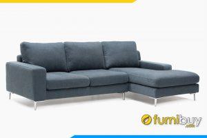 Hình ảnh mẫu ghế sofa với chất liệu nỉ màu xanh đậm đầy hiện đại