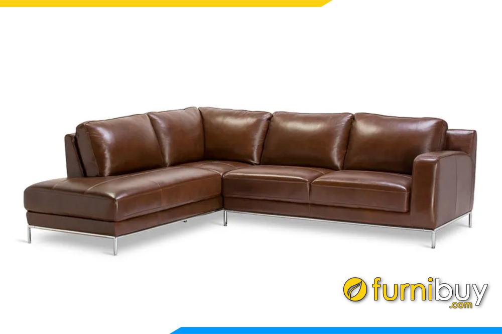 Chân đế bằng inox cao tạo dáng thanh thoát đem đến sự sang trọng cho bộ sofa