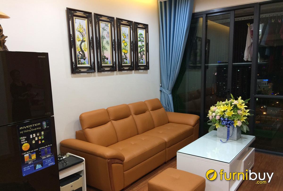 Hình ảnh Mẫu tranh tứ quý đẹp treo phòng khách chung cư