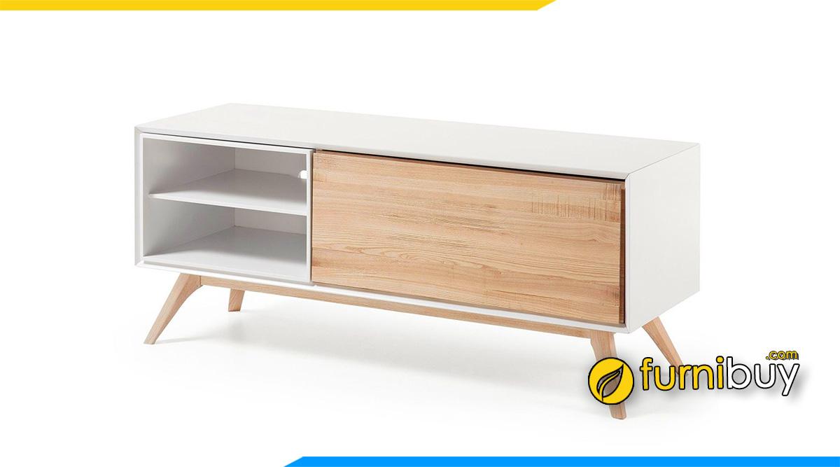 Hình ảnh Mẫu tủ tivi gỗ công nghiệp đơn giản hiện đại