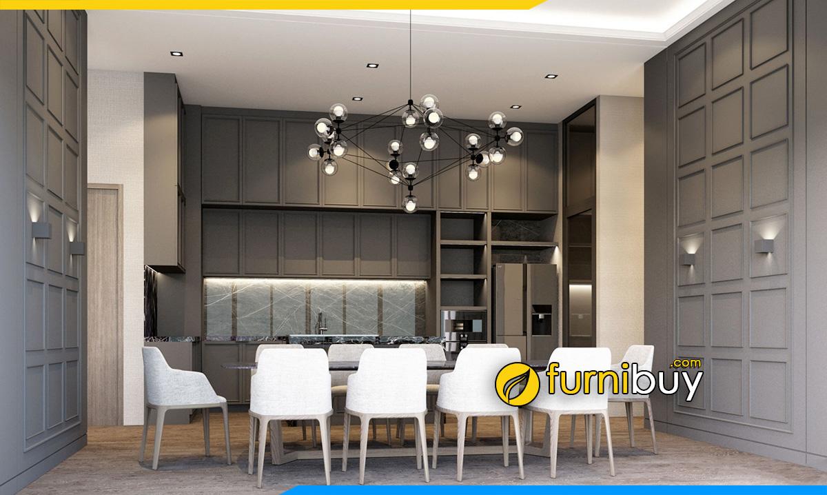Hình ảnh Mẫu nội thất bàn ăn 10 ghế đẹp hiện đại