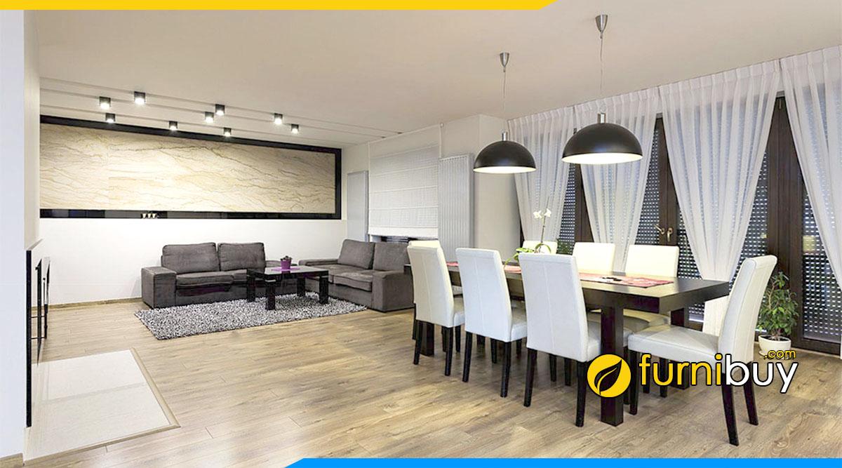 Mẫu Nội thất phòng ăn 8 ghế đẹp hiện đại và sang trọng