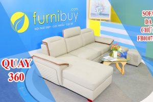 Sofa da chữ L đẹp