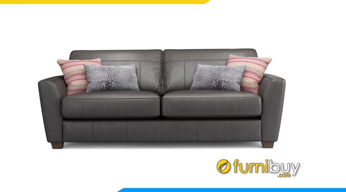 sofa da vang 2 cho phong ngu dep