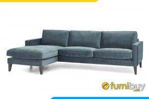 Gam màu nỉ xanh sẫm rất nổi bật và sang trọng cho phòng khách