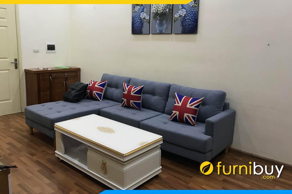 sofa phong khach goc chu l boc i mau xanh duong hien dai