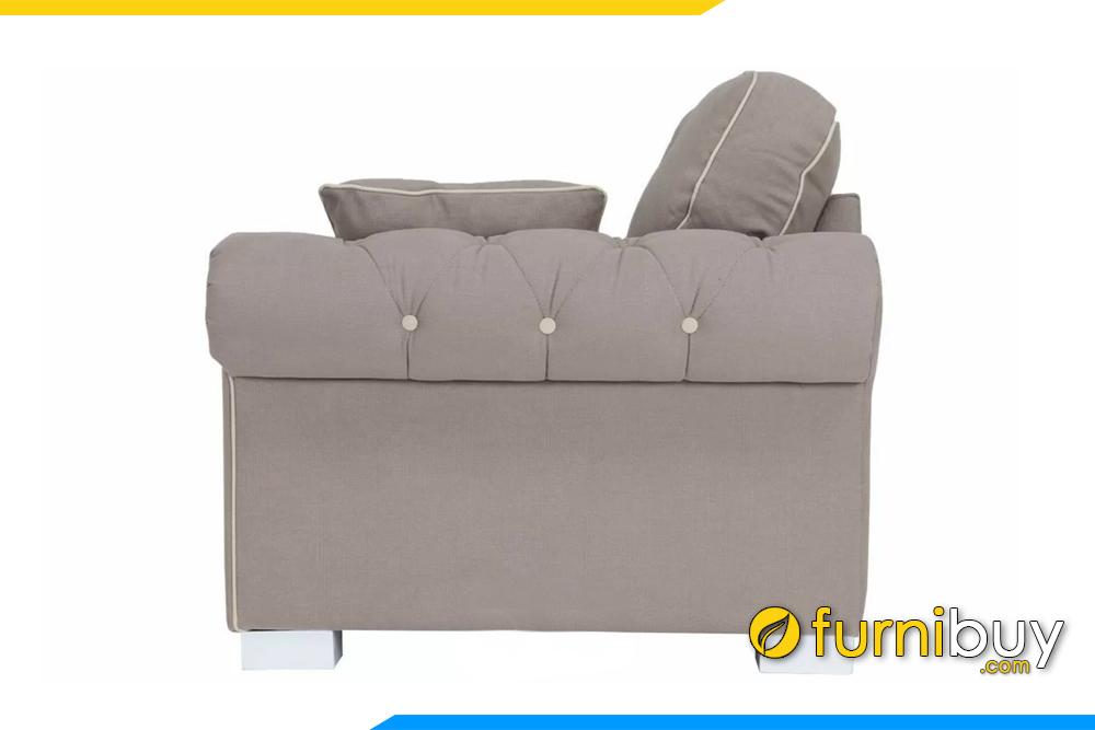 Lưng ghế được thiết kế thoải đem đến sự thoải mái khi ngồi dựa lưng lên ghế sofa