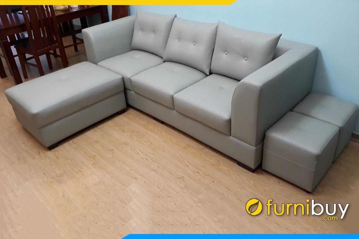sofa vang da don gian 3 cho ngoi ke phong khach dep