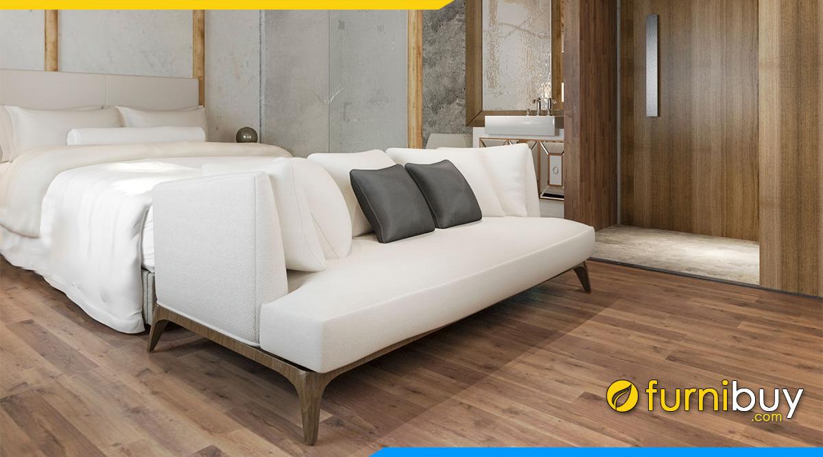 sofa vang ke phong ngu dep