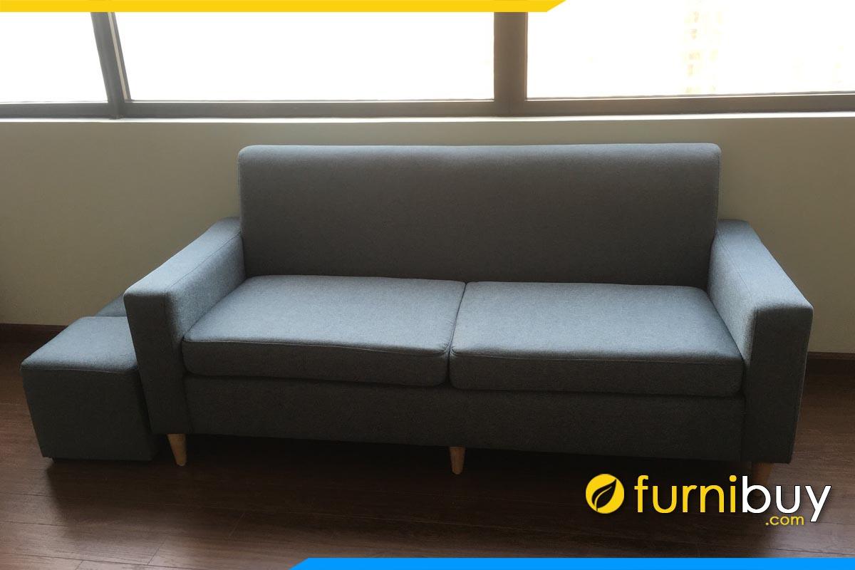 sofa vang mini don gian boc ni mau xanh xam ke phong khach