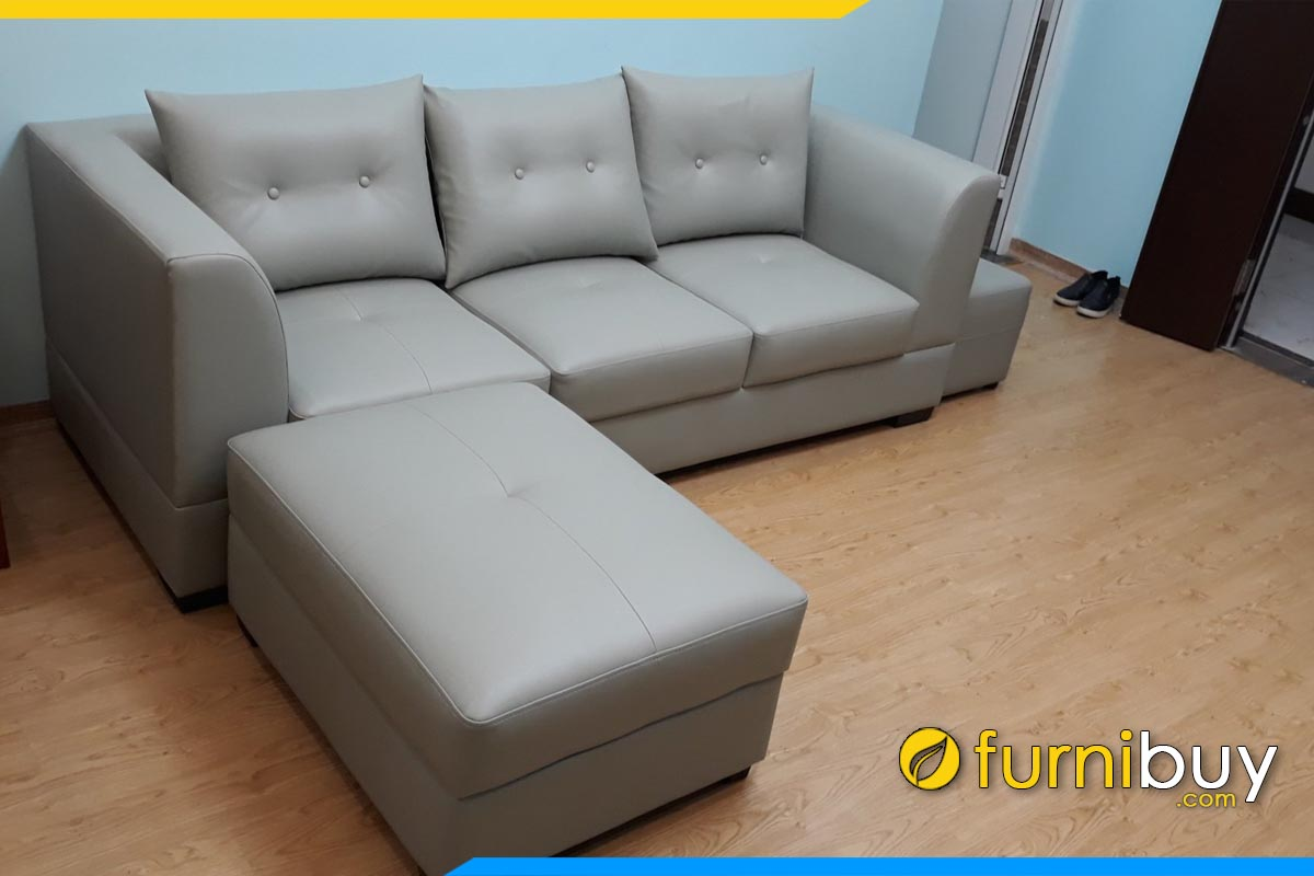 sofa vang phong khach boc da cong nghiep tay vin vuong don gian