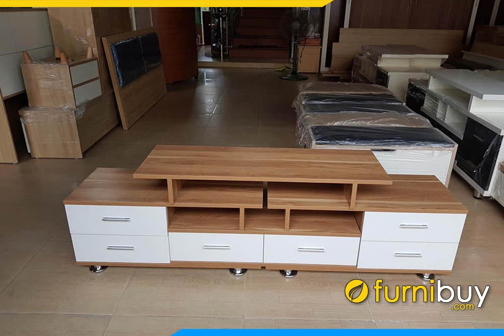 Thực tế mẫu kệ tivi gỗ công nghiệp mdf phủ venner 2m2 đẹp