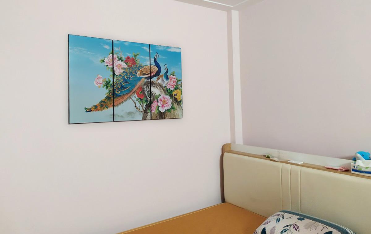 Hình ảnh Tranh công hoa mẫu đơn đẹp treo phòng ngủ ý nghĩa