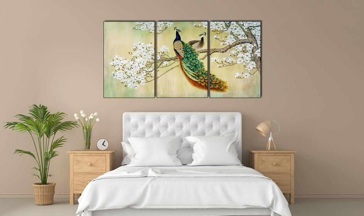 Hình ảnh Tranh đôi công trang trí phòng ngủ lãng mạn mã 1099