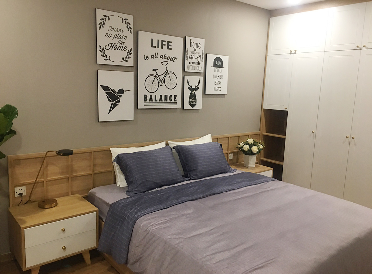 Hình ảnh Bộ tranh ghép bộ nhiều tấm treo tường phòng ngủ đẹp hiện đại