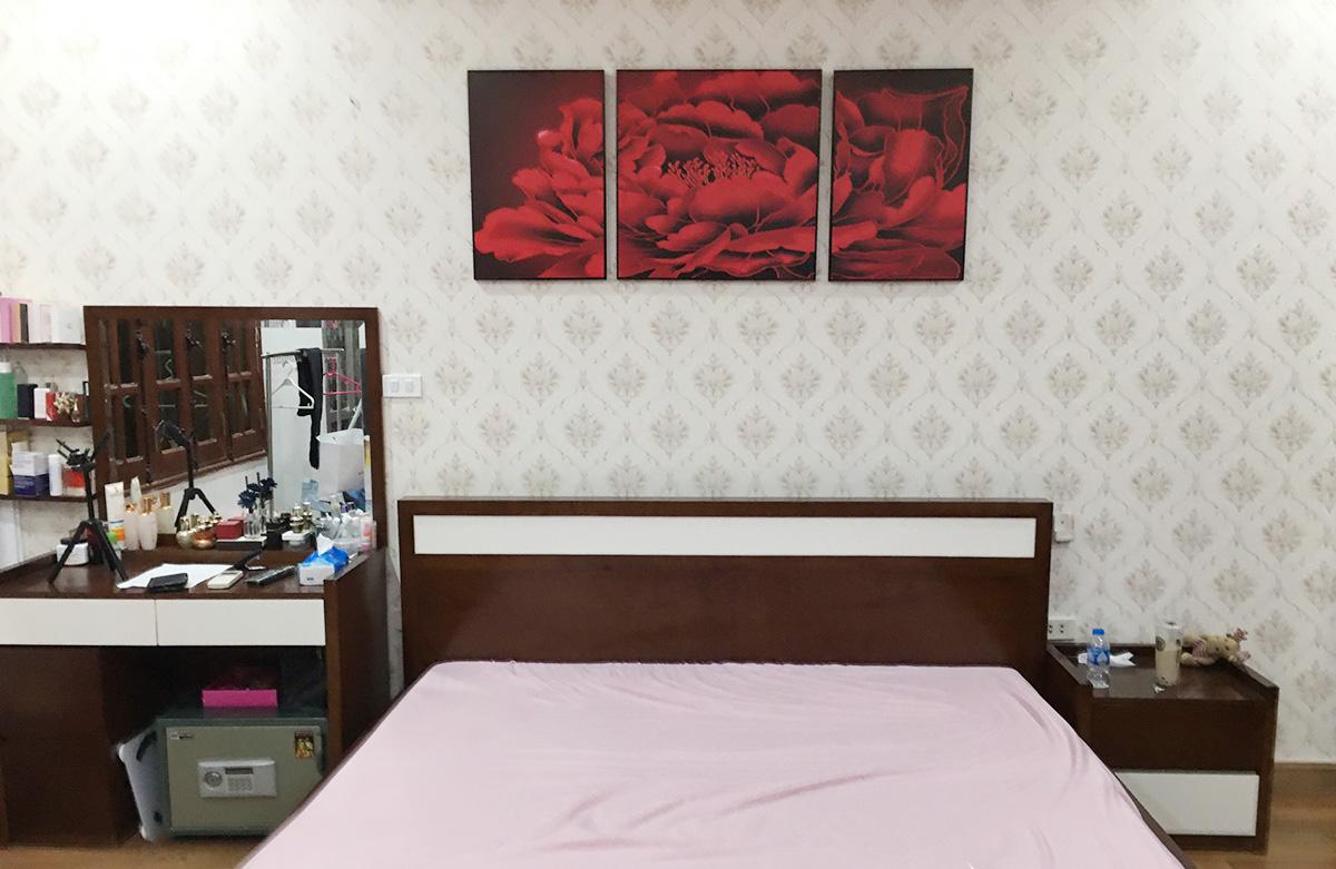Hình ảnh Tranh hoa mẫu đơn nghệ thuật treo tường phòng ngủ đẹp