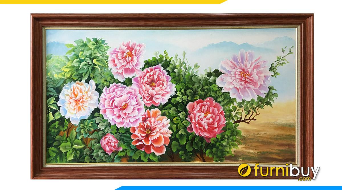 Hình ảnh Tranh hoa mẫu đơn treo tường ý nghĩa