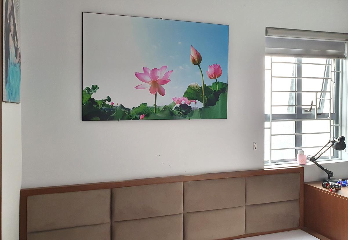 Hình ảnh Tranh hoa sen treo tường phòng ngủ đẹp