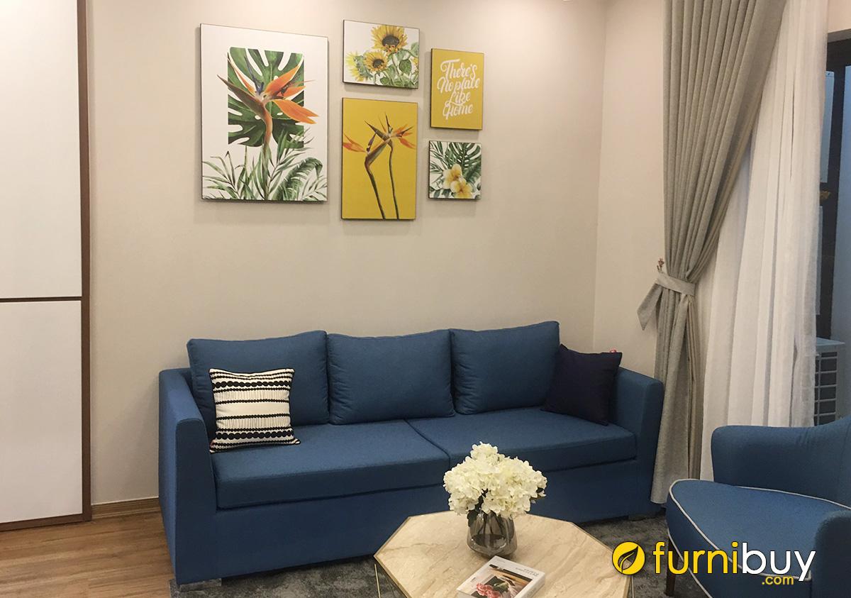 Hình ảnh Tranh hoa trang trí đẹp cho phòng khách chung cư