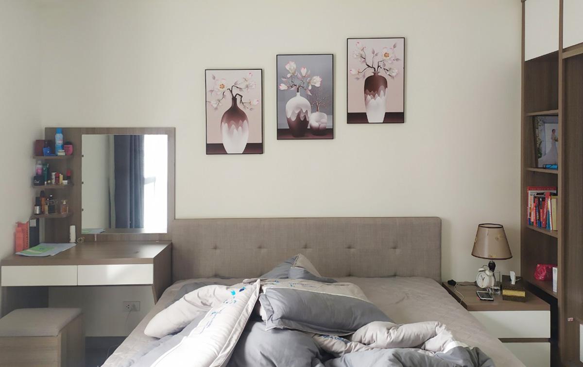 Hình ảnh Tranh lọ hoa ghép bộ 3 tấm trang trí phòng ngủ