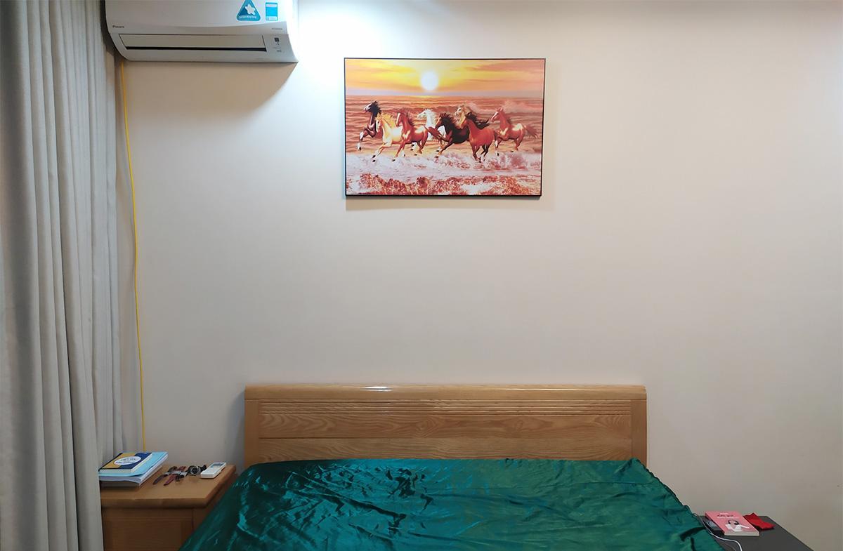 Hình ảnh Tranh mã đáo thành công treo tường phòng ngủ đẹp