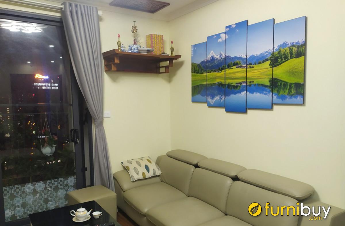 Hình ảnh Tranh phong cảnh đẹp treo tường phòng khách chung cư