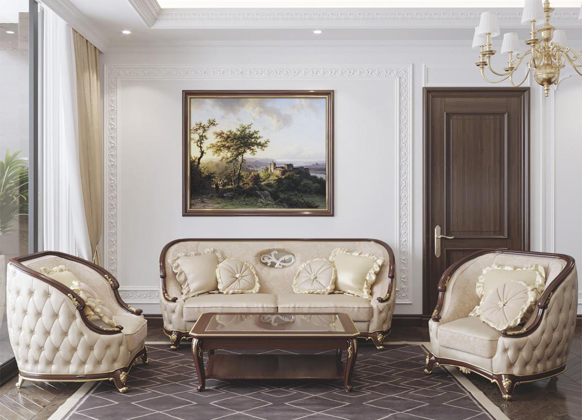 Hình ảnh Tranh phong cảnh nước ngoài treo chung cư tân cổ điển