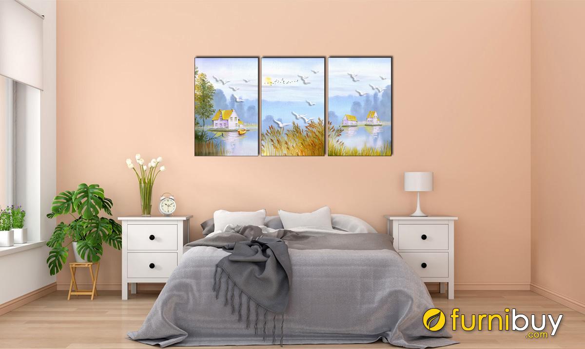 Hình ảnh Tranh phong cảnh treo phòng ngủ hiện đại