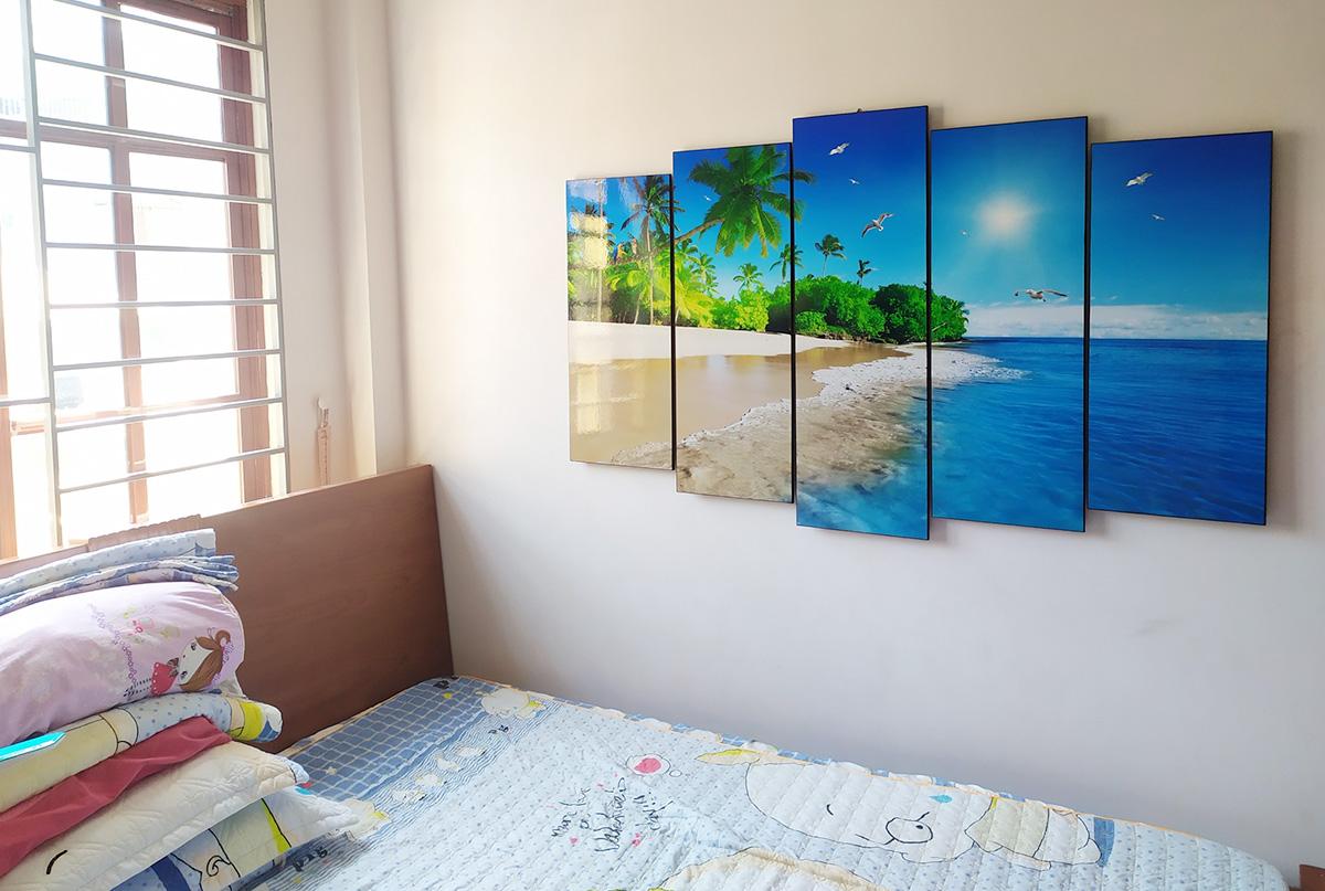 Hình ảnh Tranh phòng ngủ chủ đề bãi biển đẹp