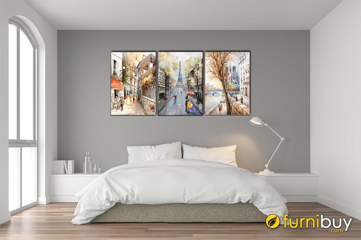 Hình ảnh Tranh trang trí phòng ngủ vợ chồng chủ đề Châu Âu