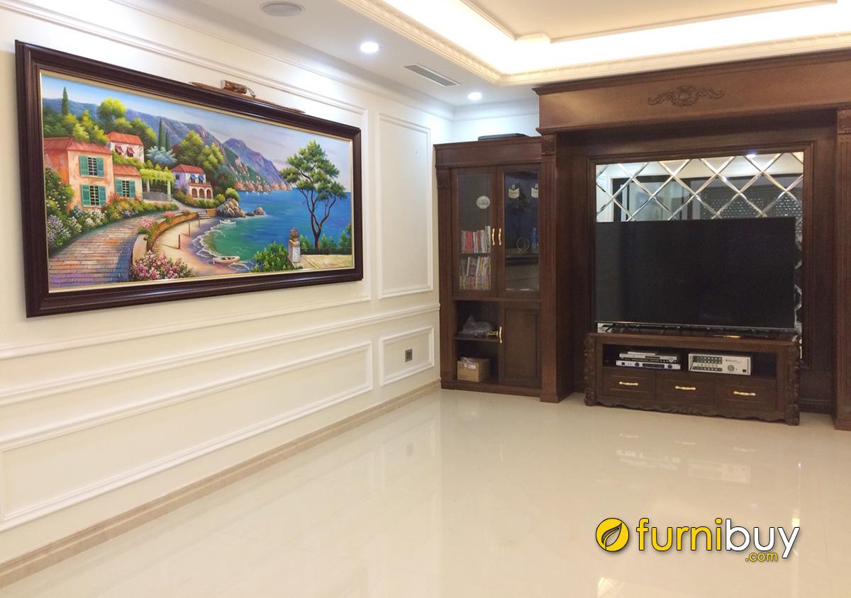 Hình ảnh Tranh phòng khách cỡ lớn cho không gian nhà rộng