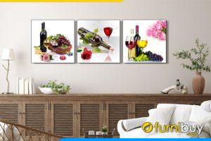 Tranh trang trí phòng ăn, quán ăn hiện đại amia 1541