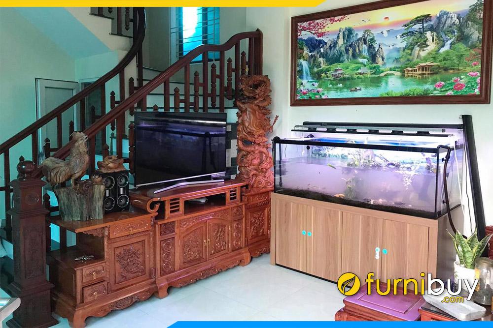 hình ảnh Mẫu tủ để tivi gỗ Lim Nam Phi cho phòng khách sang trọng