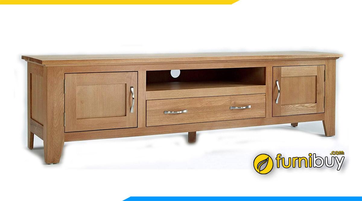Hình ảnh Mẫu tủ tivi gỗ sồi 2m đẹp giá rẻ