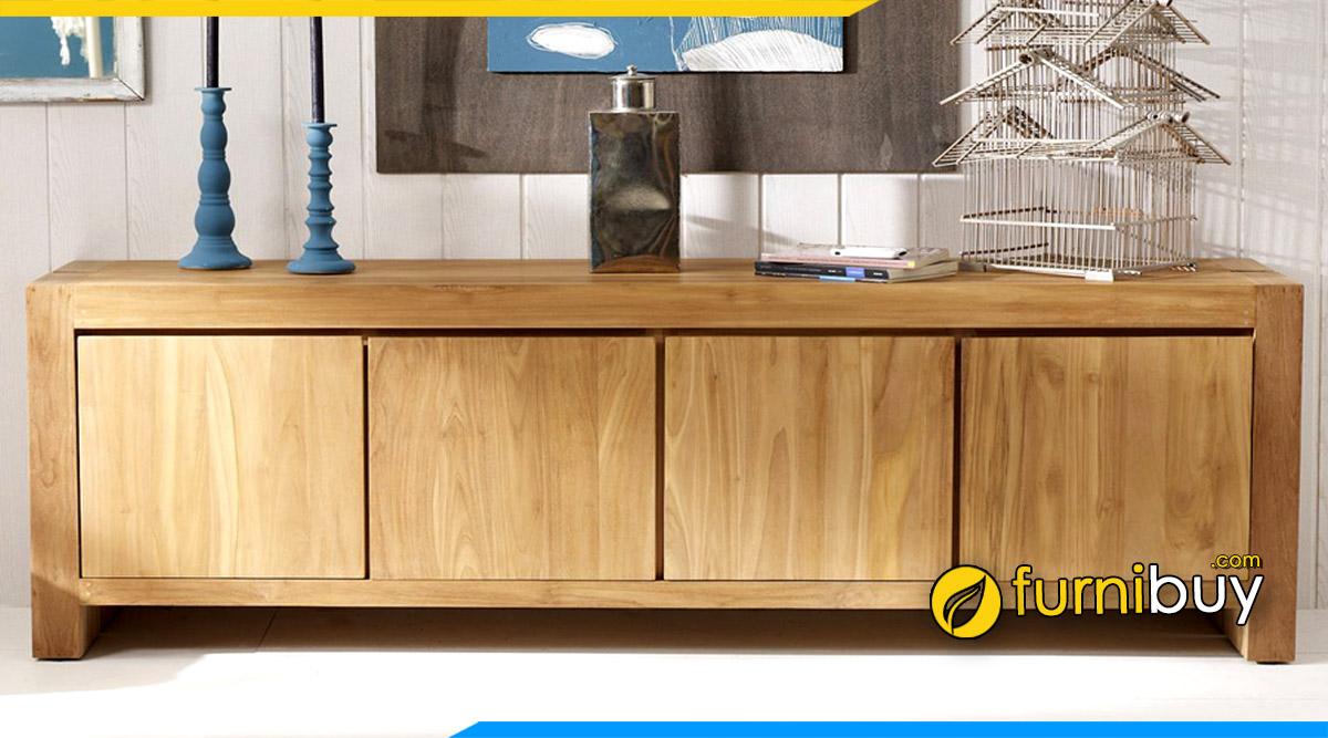 Hình ảnh Mẫu tủ tivi gỗ thấp đẹp đơn giản